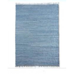 MADRID - modrý bavlněný koberec s třásněmi
