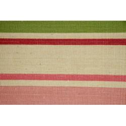 BIMBO - jutový koberec s růžovými a zelenými pásky