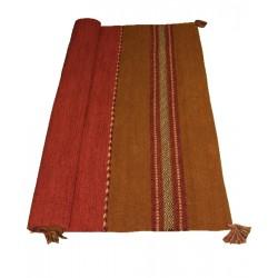 ANDREA - krásný červeno hnědý koberec s třásněmi