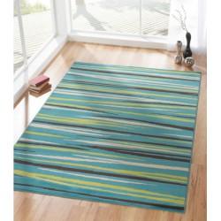 ARONA - modrý koberec s žíháním
