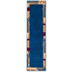 BAMBERK - dlouhý koberec - modrý koberec