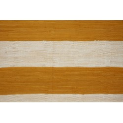 LIVORNO - bavlněný koberec žluto-bílý